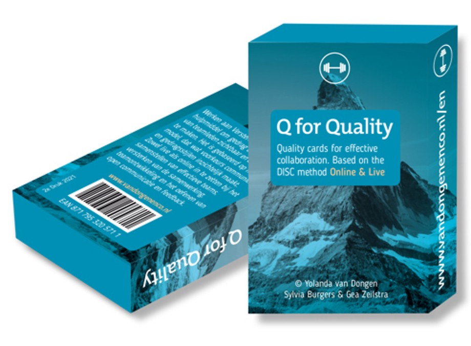Q for Quality - Quality cards for effective collaboration. Based on the DISC method.