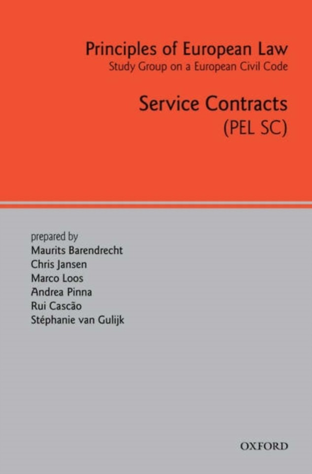 Principles of European Law; Service Contracts