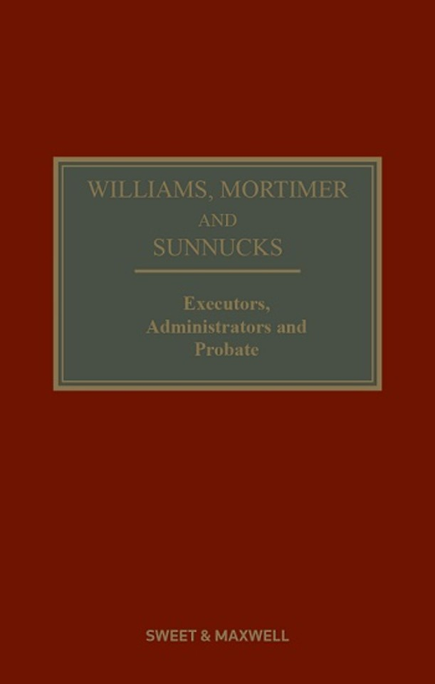 Williams, Mortimer and Sunnucks - Executors, Administrators and Probate