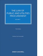 The Law of Public and Utilities Procurement (Volume 1)