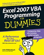 Microsoft Office Excel 2007 VBA Programming for Dummies