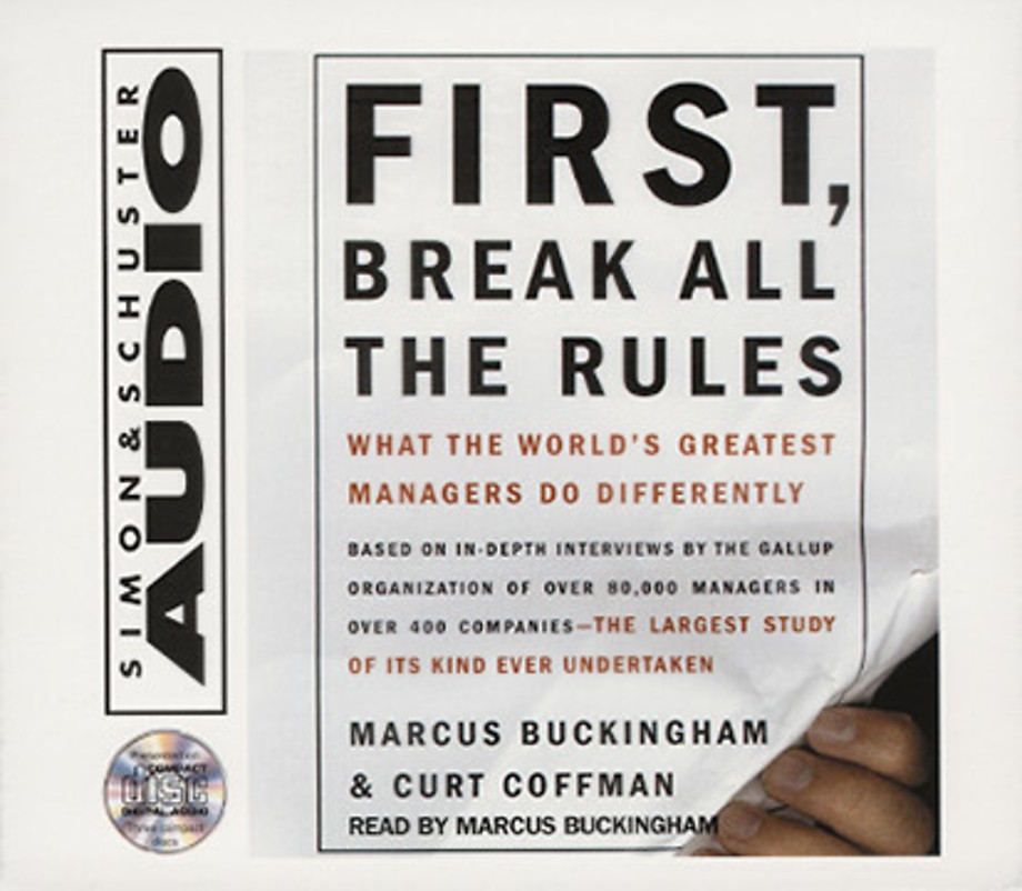 First, Break all the Rules audio-cd