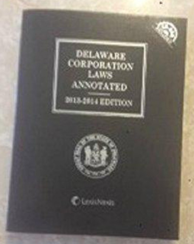 Delaware Corporation Laws Annotated with CD-ROM (2013-2014)