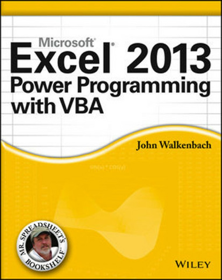 Microsoft Excel 2013 Power Programming with VBA