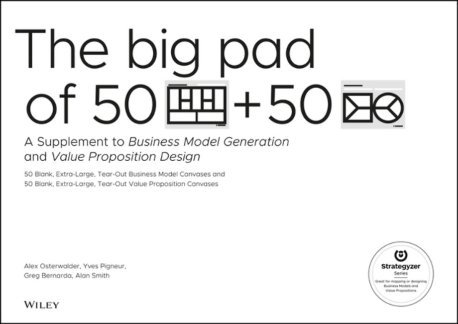 Big Pad of 50 Blank, Extra-Large Business Model Canvases and 50 Blank, Extra-Large Value Proposition Canvases