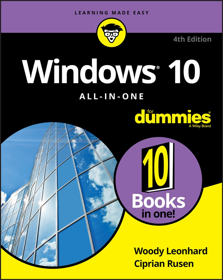 Windows 10 All–in–One For Dummies,