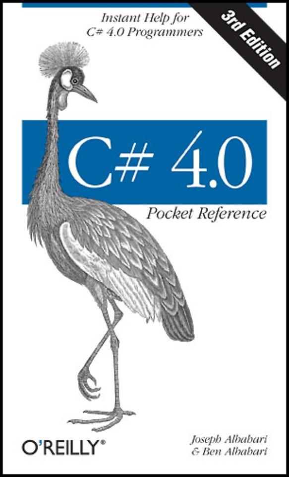C# 4.0 Pocket Reference 3e