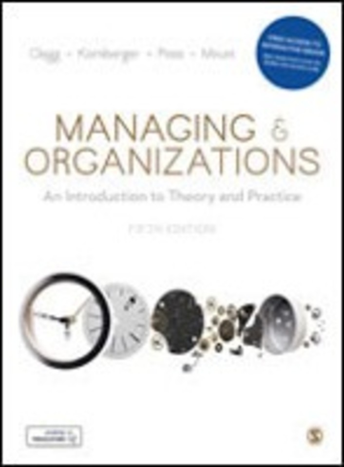 Managing and Organizations (bundle incl. eBook)