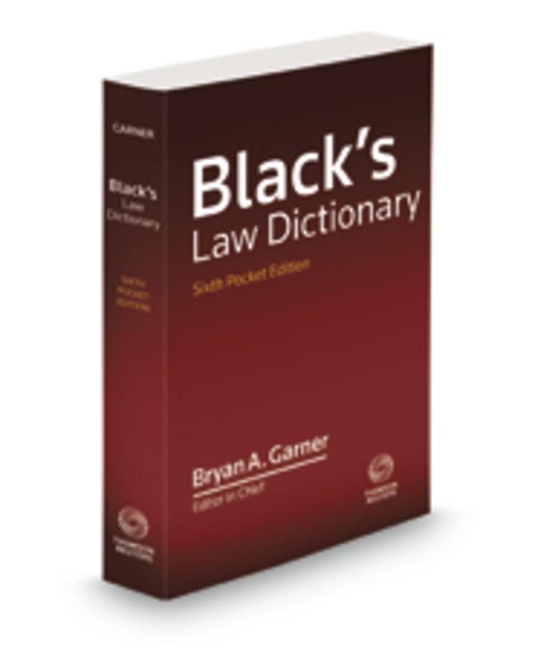 Black's Law Dictionary - Pocket Edition