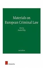 Materials on European Criminal Law