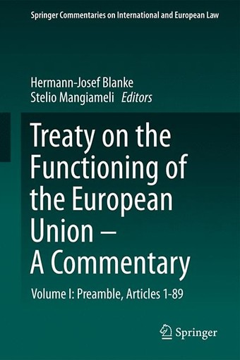 Treaty on the Functioning of the European Union - A Commentary
