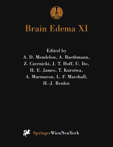 Brain Edema XI door A D  Mendelow, A  Baethmann, Z  Czernicki, J T