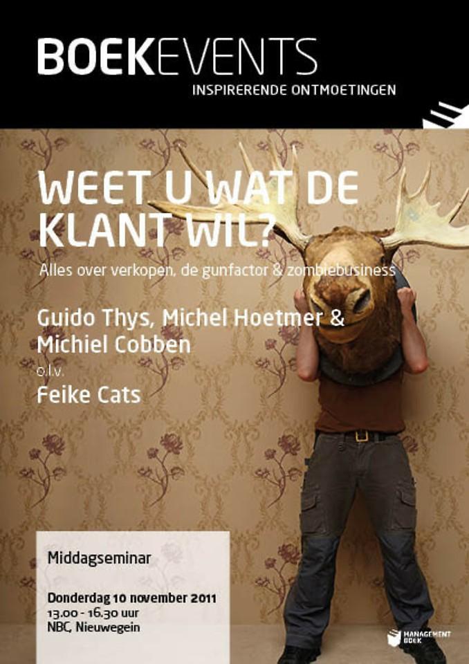 Boekevent - Weet u wat de klant wil? - donderdag 10 november 2011