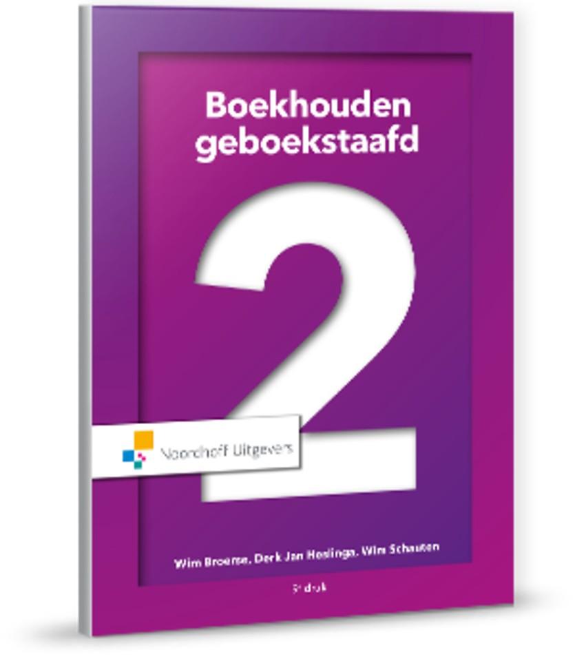 Boekhouden geboekstaafd 2 - Theorieboek