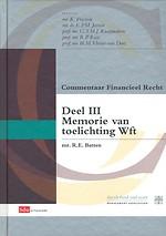 Sdu Commentaar Financieel Recht Deel III - Toelichting Wft