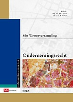 Sdu Wettenverzameling ondernemingsrecht 2012