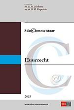 Sdu Commentaar Huurrecht 2015