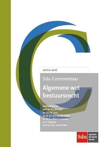Sdu Commentaar Algemene wet bestuursrecht - Editie 2016