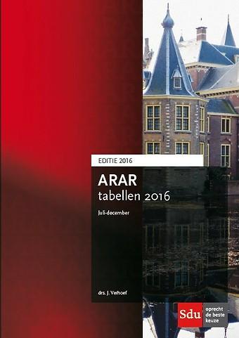 ARAR tabellen juli-december 2016