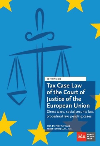 Tax Case Law of the Court of Justice of the European Union - 2016