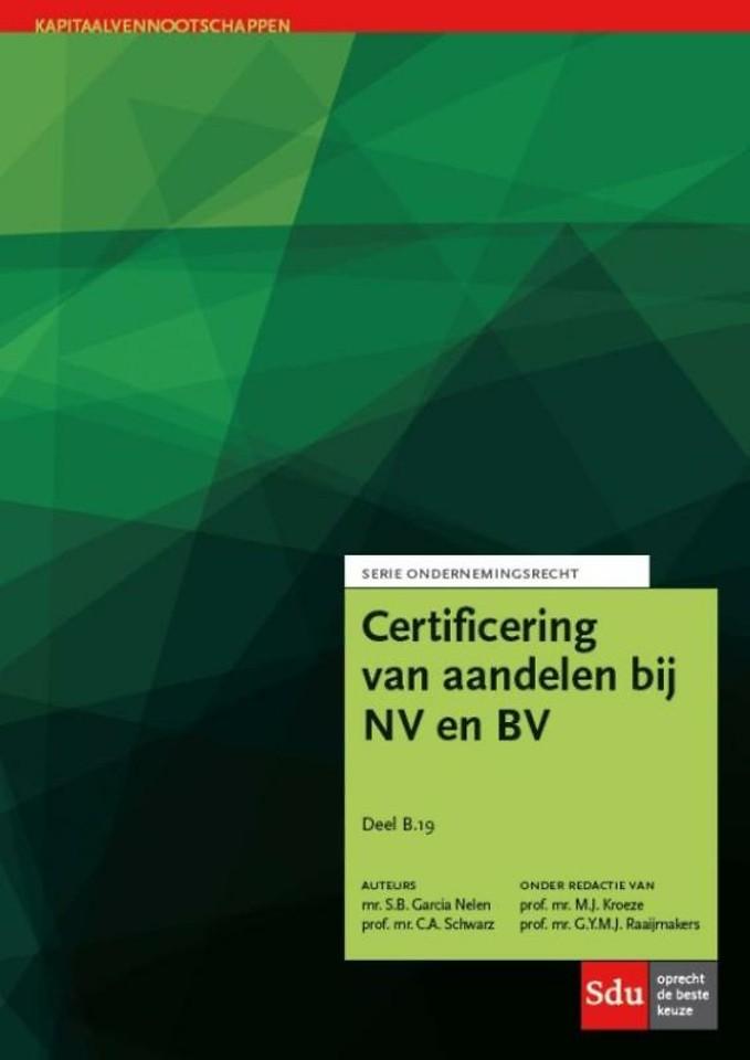 Certificering van aandelen bij NV en BV