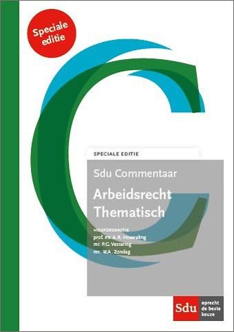 Sdu Commentaar Arbeidsrecht Thematisch - Speciale Editie