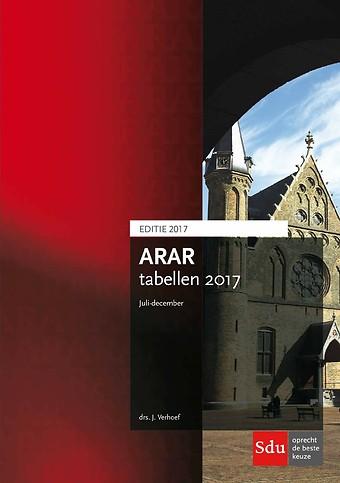 ARAR tabellen juli-december 2017-2