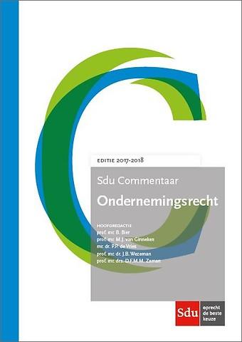 Sdu Commentaar Ondernemingsrecht - Editie 2017-2018