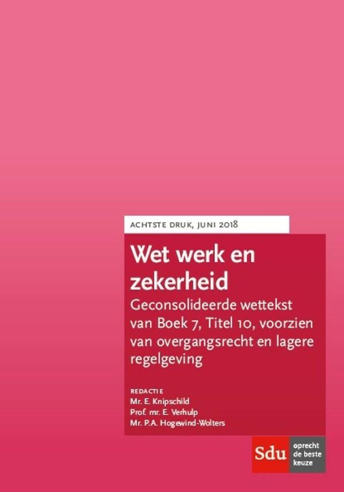 Wet werk en zekerheid (WWZ) - editie 2018