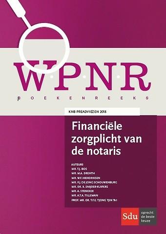 Financiële zorgplicht van de notaris