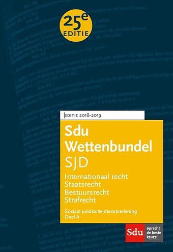 Sdu Wettenbundel Sociaal Juridische Dienstverlening (SJD) 2018-2019