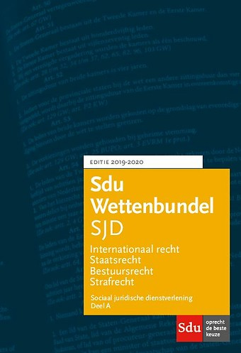 Sdu Wettenbundel Sociaal Juridische Dienstverlening (SJD) 2019-2020