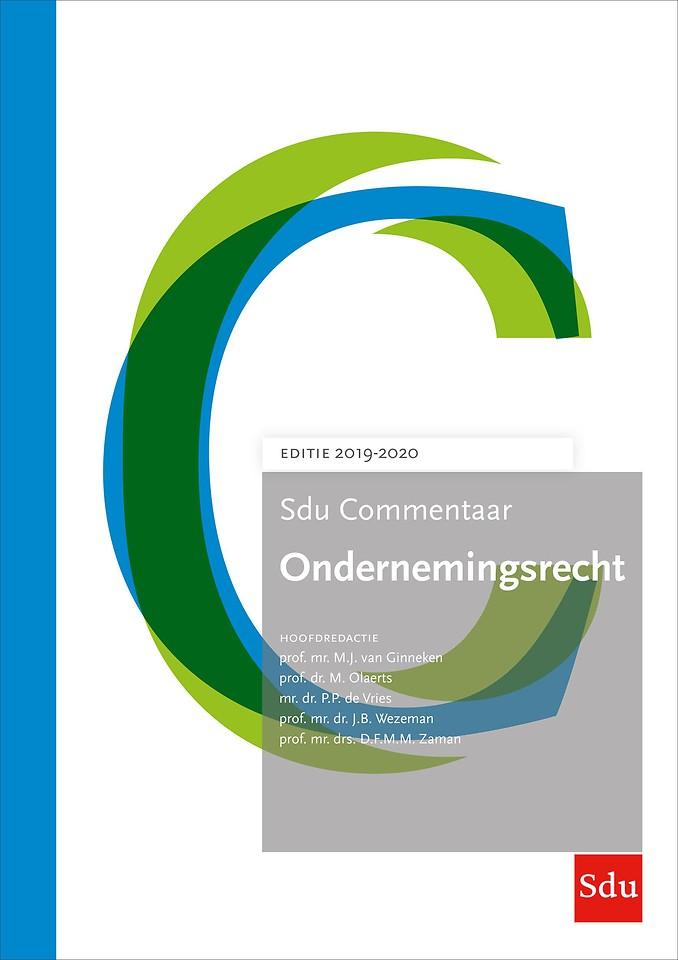 Sdu Commentaar Ondernemingsrecht - Editie 2019-2020