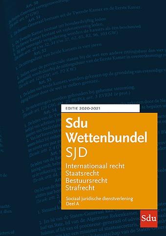 Sdu Wettenbundel Sociaal Juridische Dienstverlening (SJD) 2020-2021