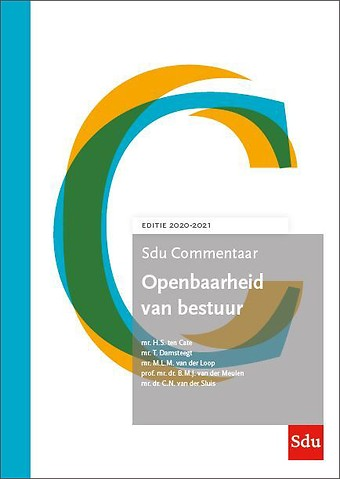 Sdu Commentaar Openbaarheid van Bestuur - Editie 2020-2021