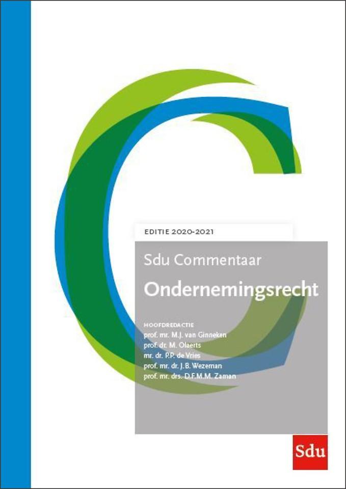 Sdu Commentaar Ondernemingsrecht. Editie 2020-2021