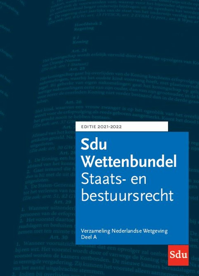 Sdu Wettenbundel 2021-2022 (vh Blauwe VNW)