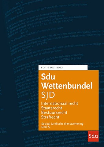 Sdu Wettenbundel Sociaal Juridische Dienstverlening (SJD) 2021-2022