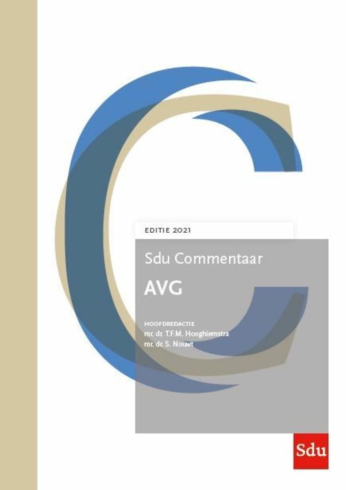 Sdu Commentaar AVG - Editie 2021