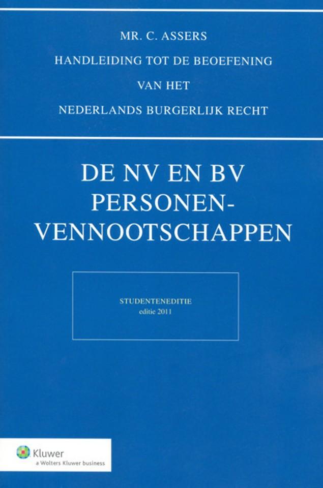 De NV en BV, Personenvennootschappen - studenteneditie 2011
