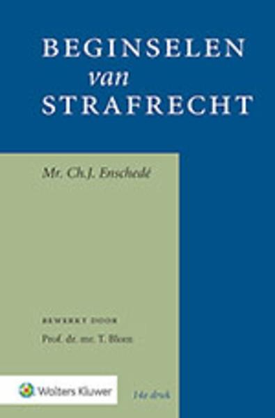 Beginselen Van Strafrecht Door Chj Enschede T Blom Boek