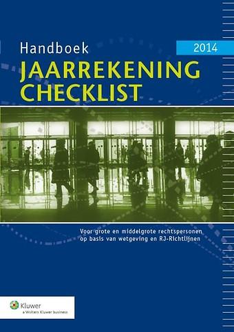 Handboek Jaarrekening Checklist 2014