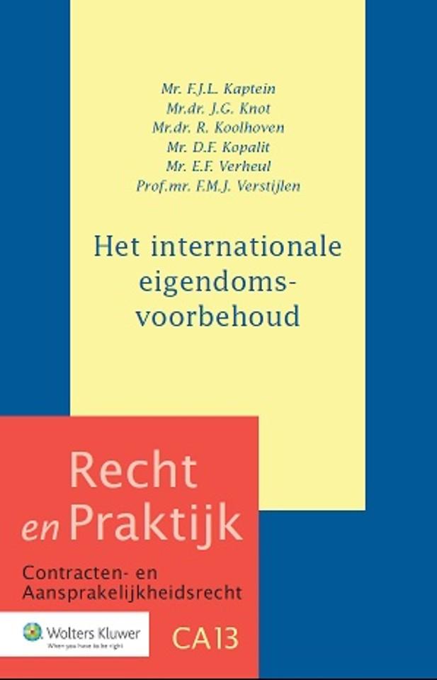 Het internationale eigendomsvoorbehoud