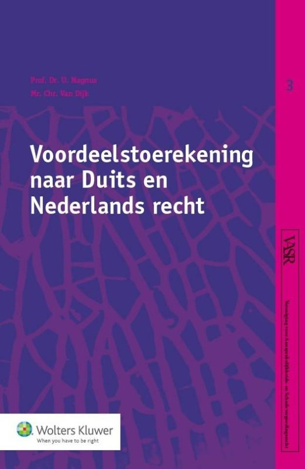 Voordeelstoerekening naar Duits en Nederlands recht