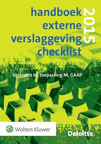 Handboek Externe Verslaggeving Checklist 2015