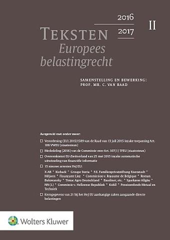 Teksten Europees belastingrecht 2016/2017
