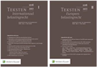 Teksten Internationaal & Europees belastingrecht 2016/2017