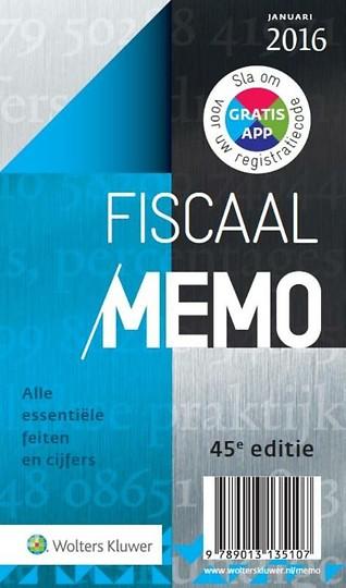 Fiscaal Memo 2016-1