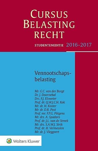Studenteneditie Cursus Belastingrecht, Vennootschapsbelasting 2016/2017