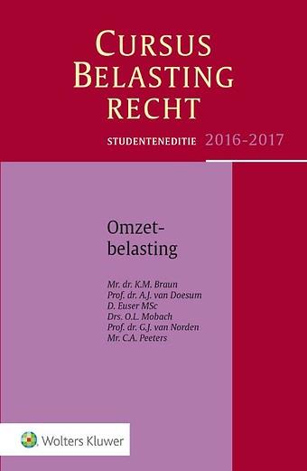 Studenteneditie Cursus Belastingrecht, Omzetbelasting 2016-2017